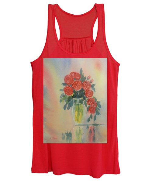 Red Roses For My Valentine Women's Tank Top