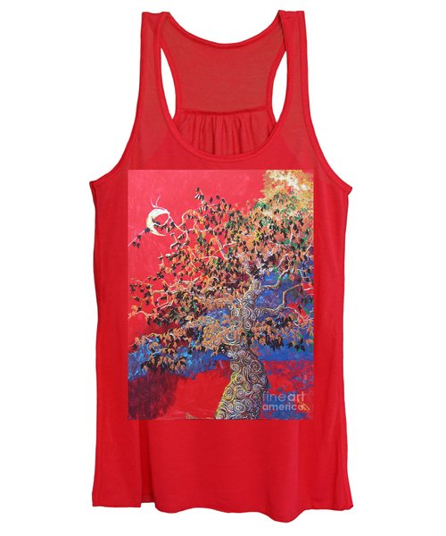 Red Sky And Tree Women's Tank Top