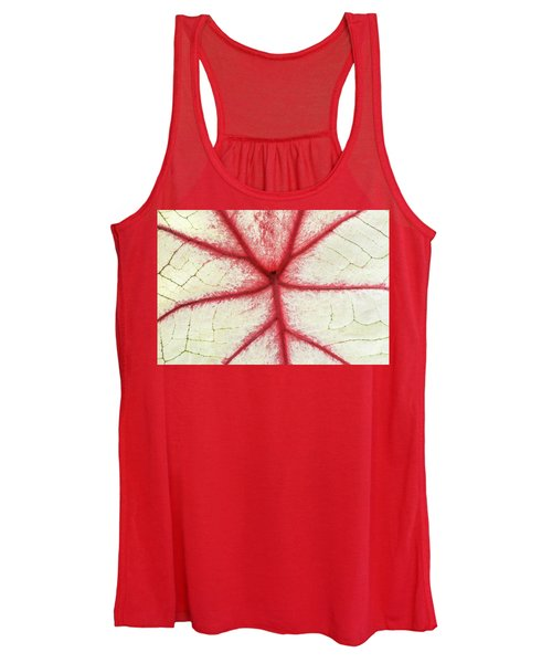 Red Veins Of A Coleus Plant Women's Tank Top