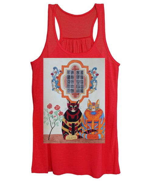Rosa And Pedro Of The Rose Window Of Mission San Jose Women's Tank Top