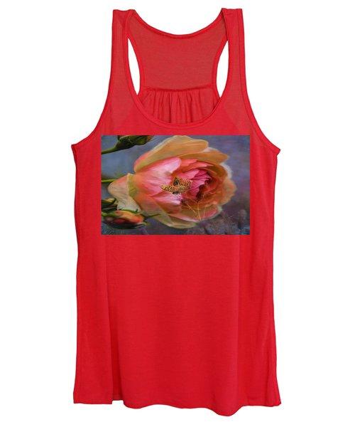 Rose Buttefly Women's Tank Top