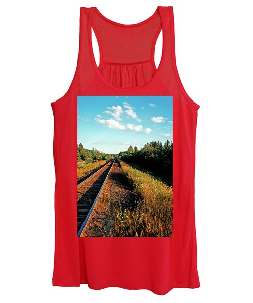 Rural Country Side Train Tracks Women's Tank Top