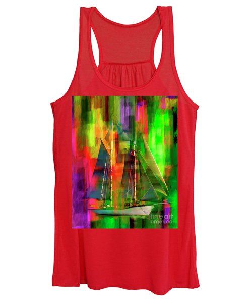 Sailing In The Abstract 2016 Women's Tank Top