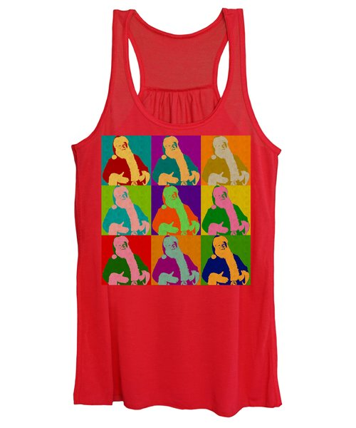 Santa Claus Andy Warhol Style Women's Tank Top