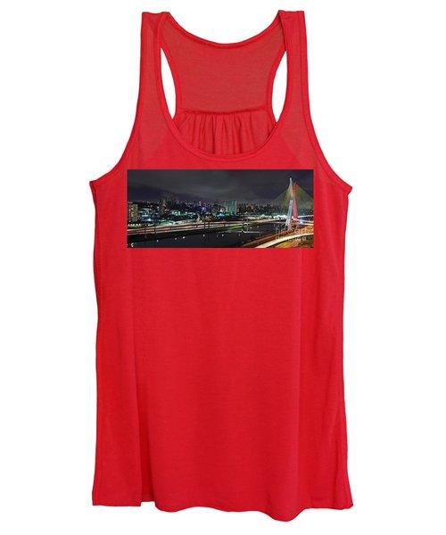 Sao Paulo Skyline - Ponte Estaiada Octavio Frias De Oliveira Wit Women's Tank Top