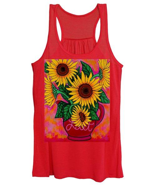 Saturday Morning Sunflowers Women's Tank Top