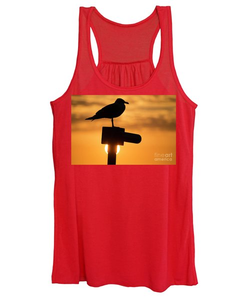 Seagull At Sunset Women's Tank Top