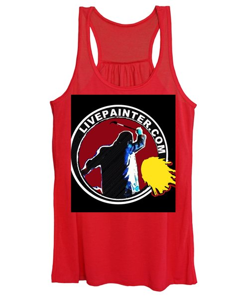 second Official Live Painter Logo  Women's Tank Top