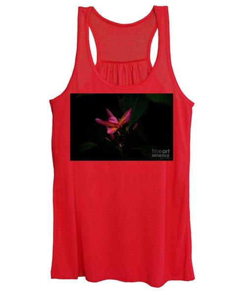 Single Red Plumeria Bloom Women's Tank Top