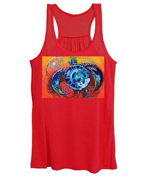 Slopical Tropical Sea Turtle Women's Tank Top