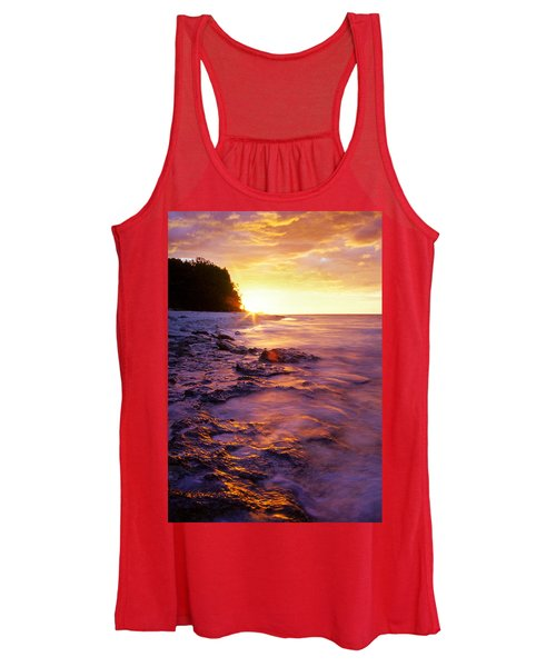 Slow Ocean Sunset Women's Tank Top