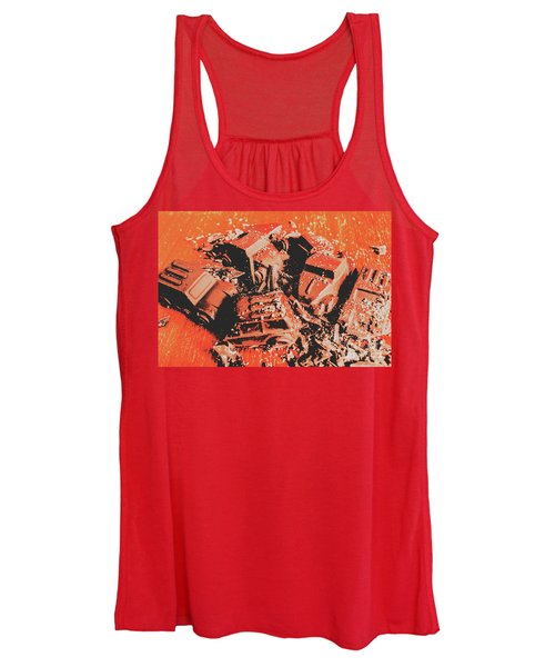 Smashem Crashem Cars Women's Tank Top