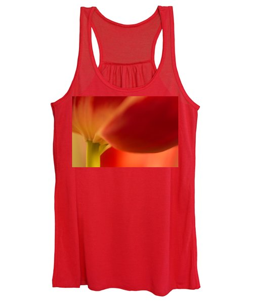Women's Tank Top featuring the photograph Soft Tulip by Bob Cournoyer