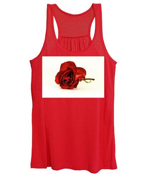 Red Rose Bud Women's Tank Top