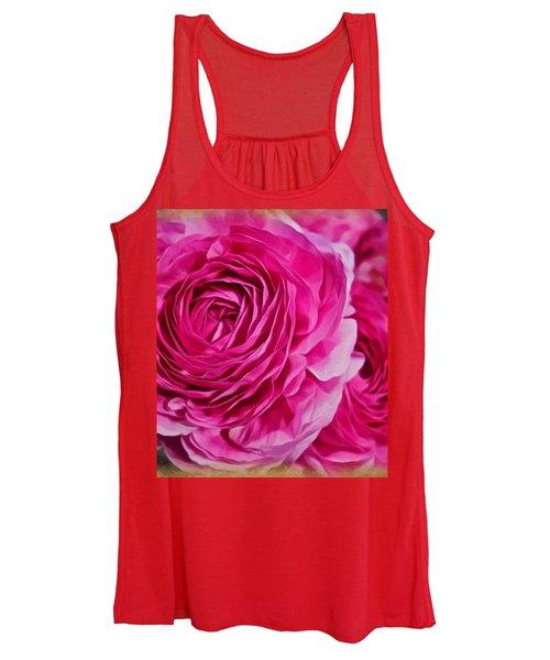 Spring Pink Roses Women's Tank Top