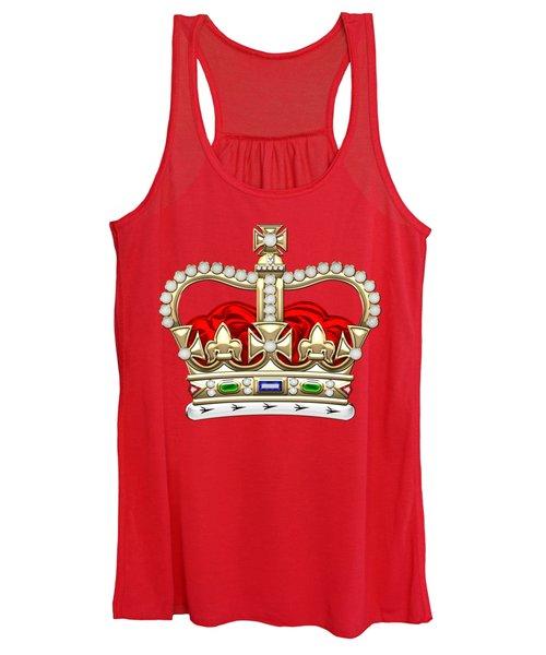 St Edward's Crown - British Royal Crown  Women's Tank Top
