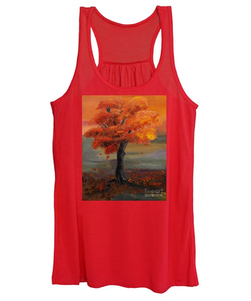 Stand Alone In Color - Autumn - Tree Women's Tank Top