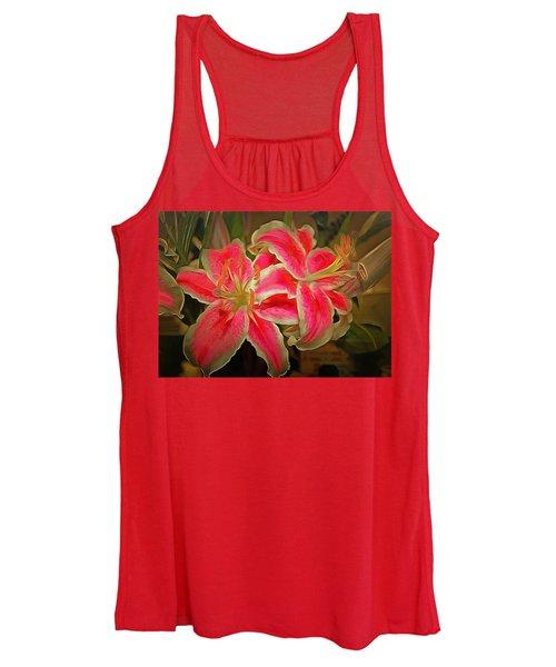 Star Gazer Lilies Women's Tank Top