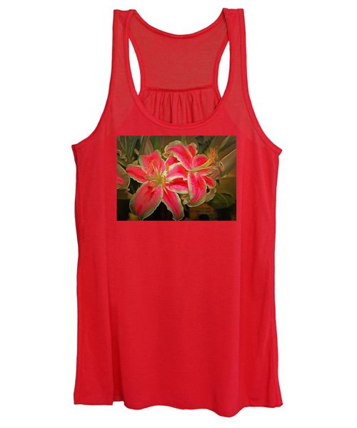 Star Gazer Lilies Women's Tank Top