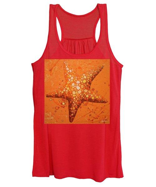 Starfish In Coral Women's Tank Top