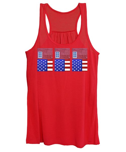 Stars And Stripes - Rural Abstract - 1 - Mug  Women's Tank Top