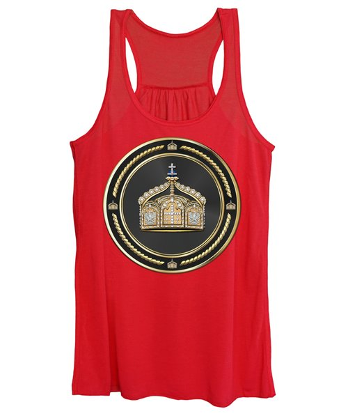 State Crown Of The German Empire Over Red Velvet Women's Tank Top
