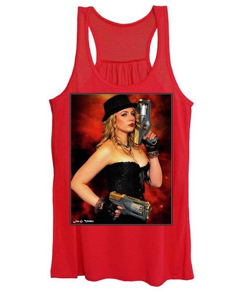 Steam Punk Gun Figther Women's Tank Top
