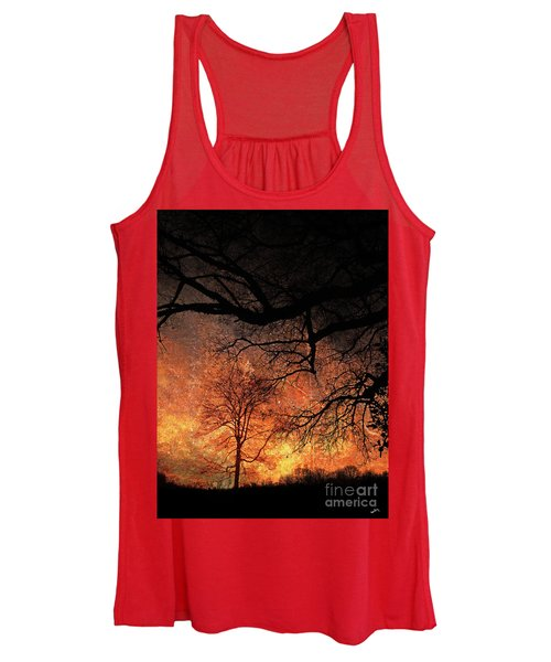 Still Is The Woodland At Night Women's Tank Top