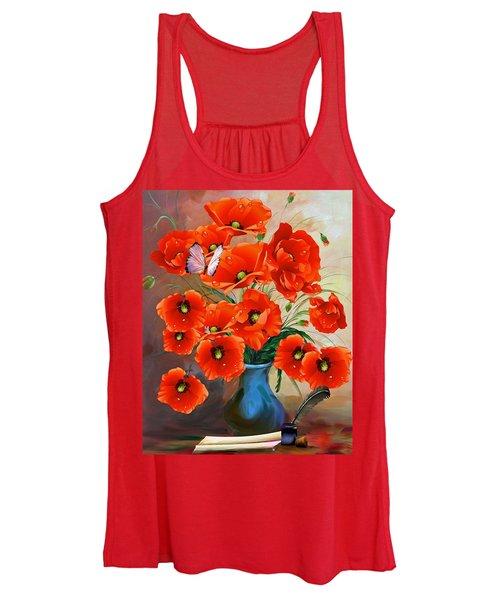 Still Life Poppies Women's Tank Top