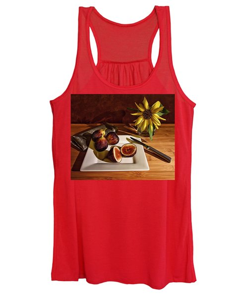 Still Life With Flower And Figs Women's Tank Top
