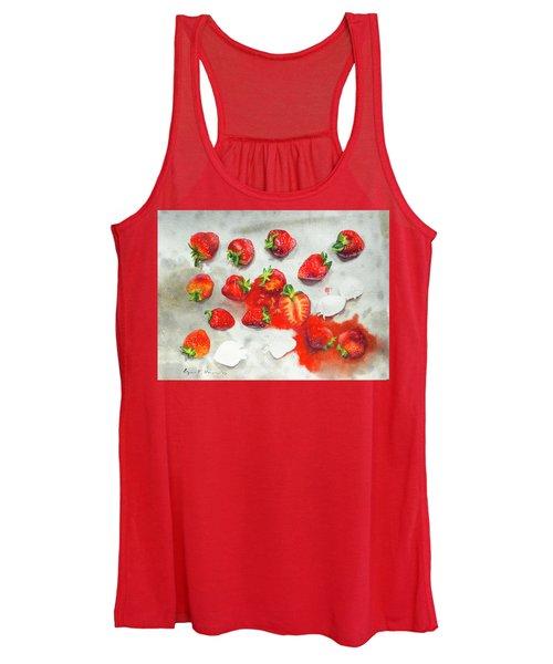 Strawberries On Paper Towel Women's Tank Top