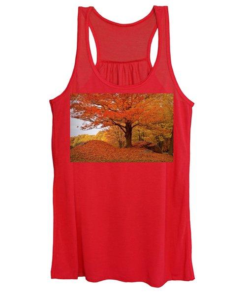 Sturdy Maple In Autumn Orange Women's Tank Top