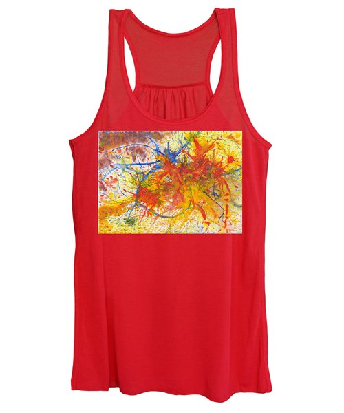 Summer Branches Alfame With Flower Acrylic/water Women's Tank Top