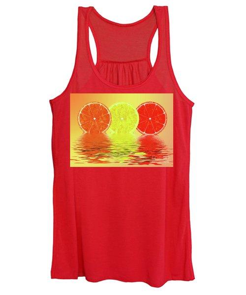 Orange,lemon,blood Orange Women's Tank Top