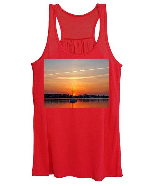 Summer Sunset At Anchor Women's Tank Top