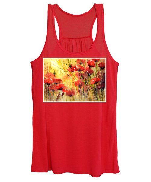 Sun Kissed Poppies Women's Tank Top
