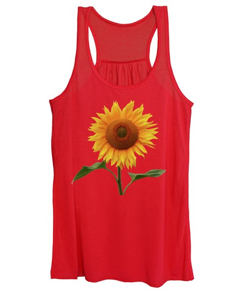 Sunflower And Red Sunset Women's Tank Top