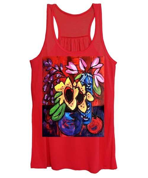 Sunflowers And Tulips Women's Tank Top