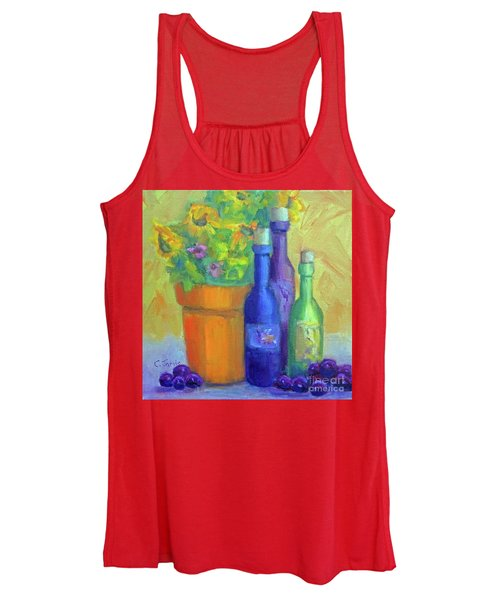 Sunflowers And Wine Women's Tank Top