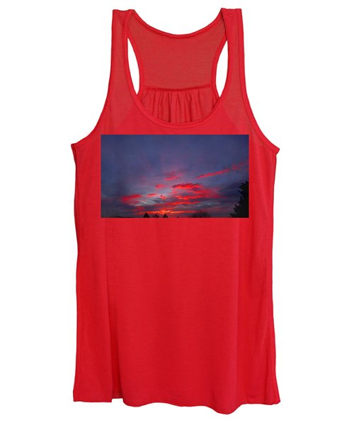 Sunrise Abstract, Red Oklahoma Morning Women's Tank Top