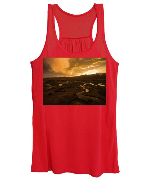 Sunrise Over Winding Rivers Women's Tank Top