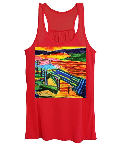 Sunset At Dock Women's Tank Top