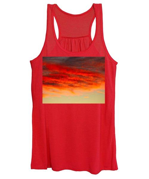 Sunset At Eaton Rapids 4826 Women's Tank Top