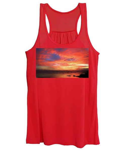 Sunset At The Beach Women's Tank Top