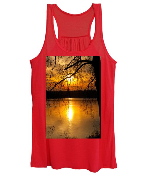 Sunset Over The Lake Women's Tank Top