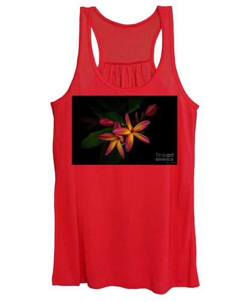 Sunset Plumerias In Bloom #2 Women's Tank Top