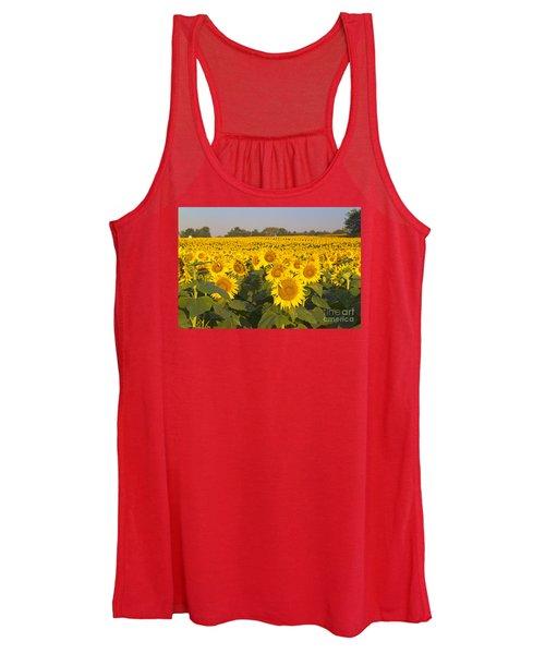 Sunshine Flower Field Women's Tank Top