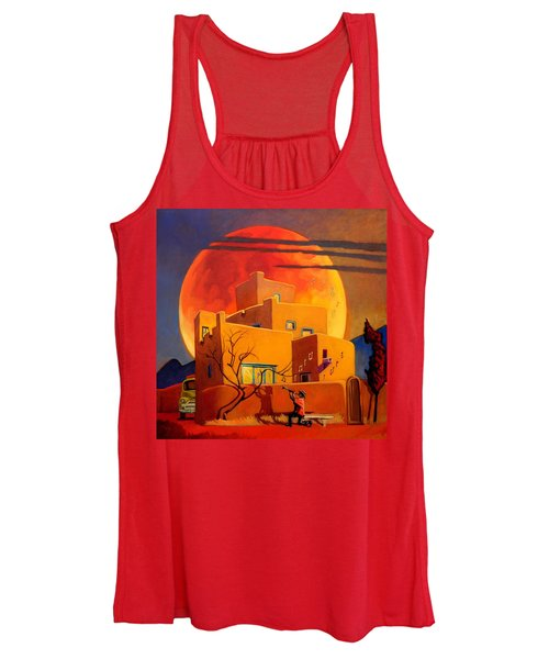 Taos Wolf Moon Women's Tank Top