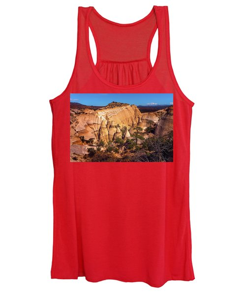Tent Rocks From Above Women's Tank Top