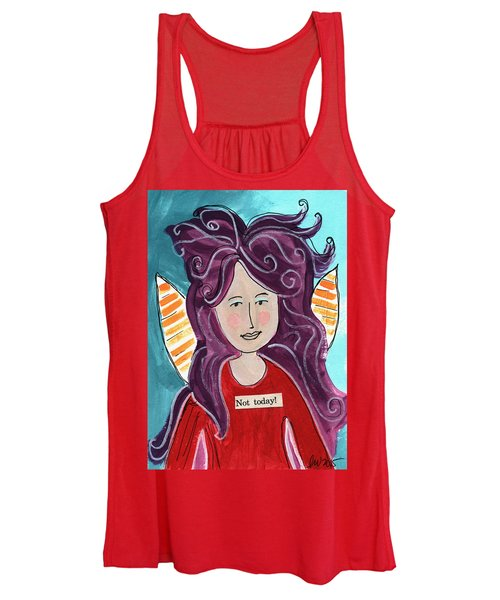 The Not Today Fairy- Art By Linda Woods Women's Tank Top